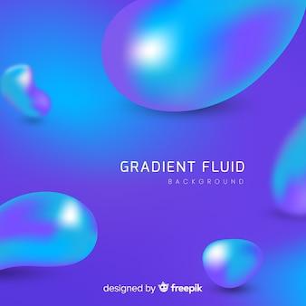 Fond dégradé abstrait avec des formes fluides