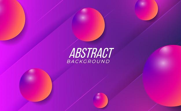 Fond dégradé abstrait violet et rose 3d coloré propre et moderne pour l'intérieur de la mode de la technologie du parti abstrait