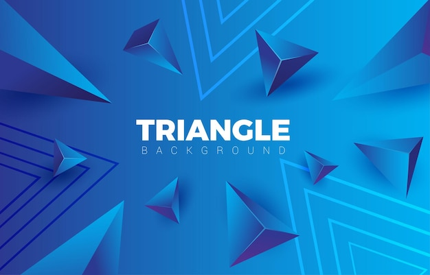 Fond dégradé bleu abstrait triangle