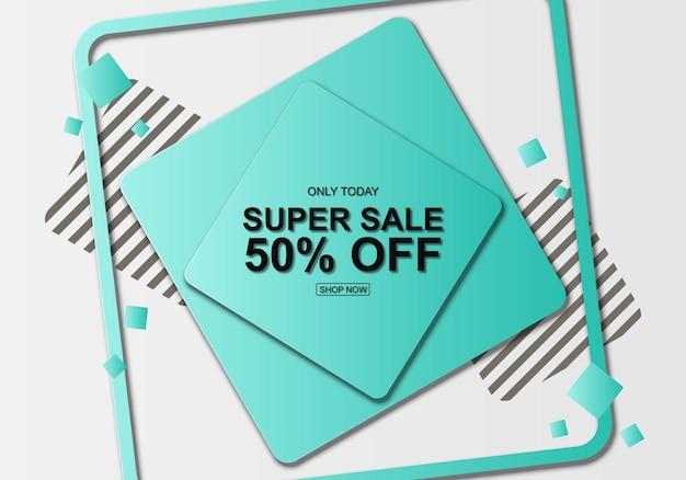 Fond dégradé bleu avec des rectangles géométriques illustration vectorielle