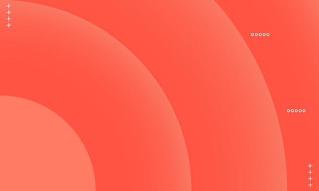 Fond dégradé de cercle orange. modèle pour les annonces, dépliants.