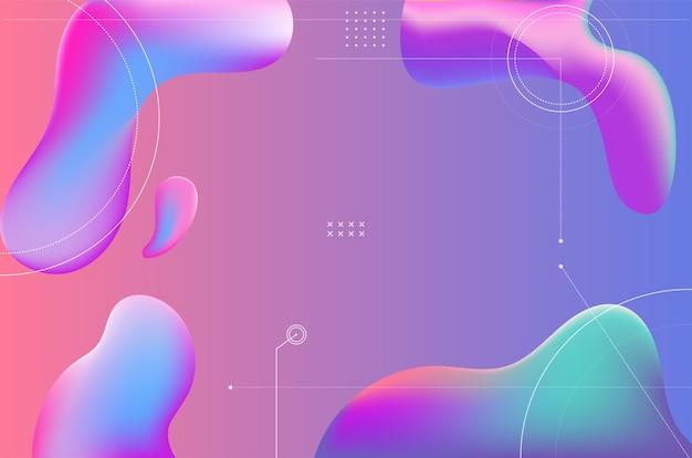 Fond dégradé coloré abstrait formes fluides