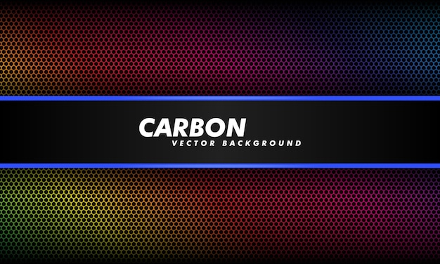Fond en dégradé de couleur sombre et fibre de carbone noire