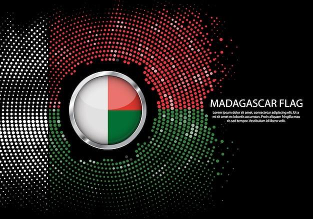 Fond dégradé de demi-teintes de drapeau de madagascar.
