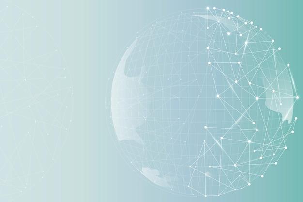 Fond dégradé d'entreprise numérique globe