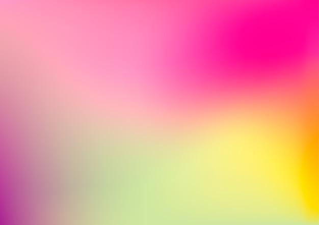 Fond dégradé flou coloré abstrait moderne dans les couleurs roses, verts, jaunes et violets.