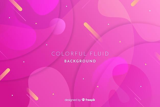 Fond dégradé de fluides colorés