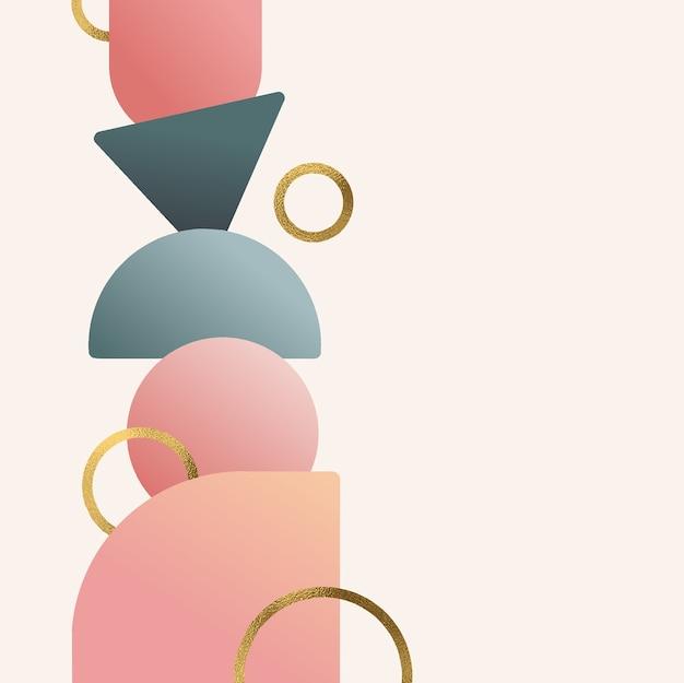 Fond dégradé de formes abstraites