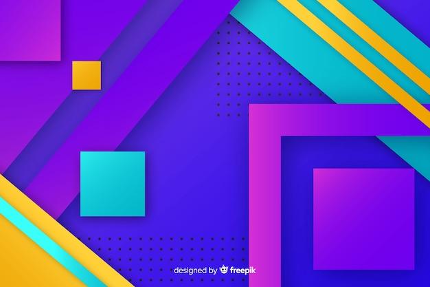 Fond dégradé de formes géométriques colorées