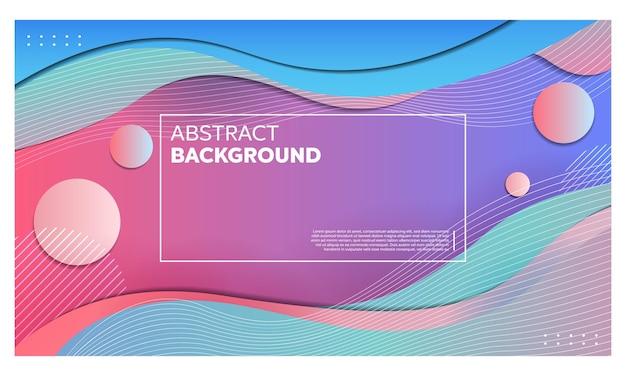 Fond dégradé géométrique abstrait avec des lignes