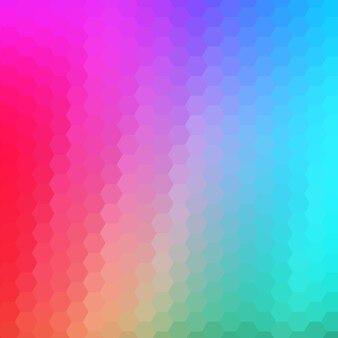 Fond dégradé hexagonal résumé