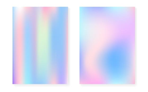 Fond dégradé hologramme serti de couvercle holographique.
