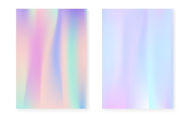 Fond dégradé holographique serti de couverture hologramme.