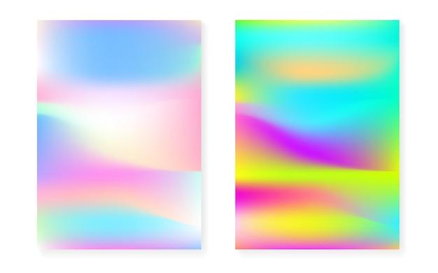 Fond dégradé holographique sertie de couverture hologramme