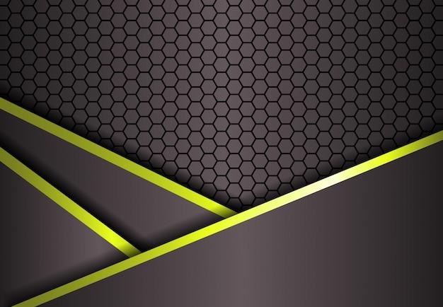 Fond dégradé ligne hexagone