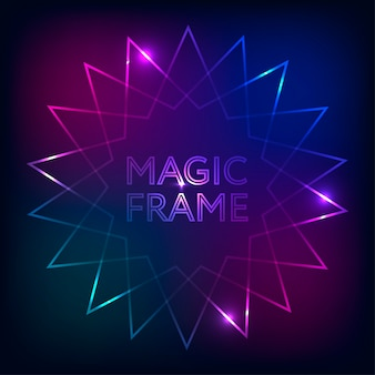 Fond de dégradé magic frame