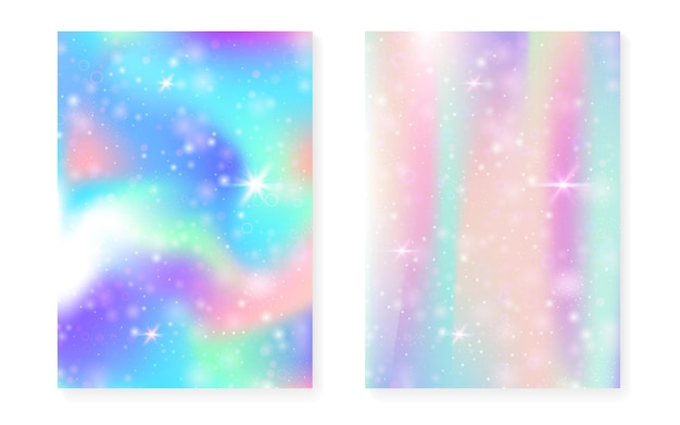 Fond avec dégradé magique. hologramme arc-en-ciel princesse