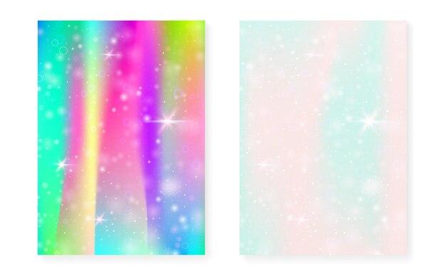 Fond avec dégradé de princesse arc-en-ciel. hologramme magique