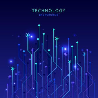 Fond dégradé de technologie big data