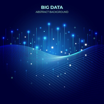 Fond de dégradé technologique big data