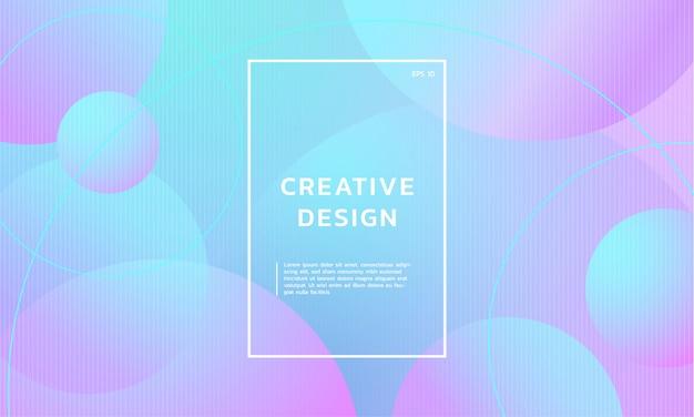 Fond dégradé tendance géométrique abstrait créatif