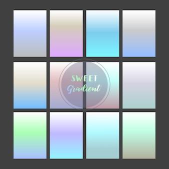 Fond dégradé violet, bleu et vert clair