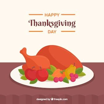 Fond délicieux de dinde de thanksgiving