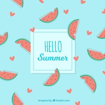 Fond de délicieux fruits d'été