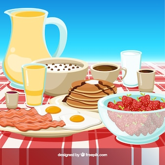 Fond de délicieux petit déjeuner