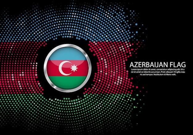 Fond de demi-teinte modèle de gradient ou néon led lumière sur le style rond de points de l'azerbaïdjan