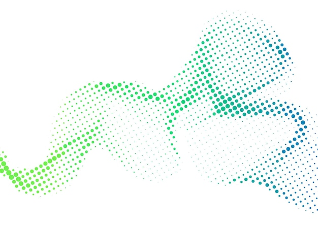 Fond de demi-teinte de points dégradés colorés ondulés abstraits, conception de fond de demi-teintes