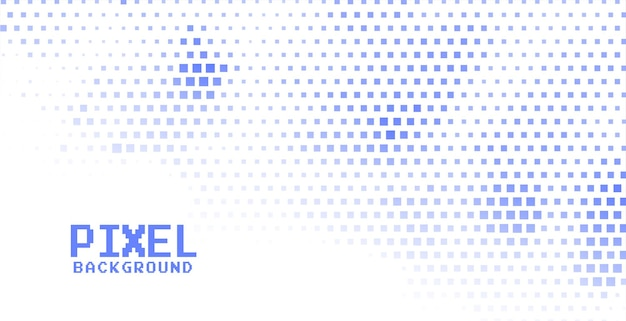 Fond de demi-teintes de pixels de couleur bleue