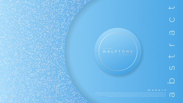 Fond avec demi-ton dégradé abstrait bleu