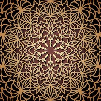 Fond de dentelle ethnique ornemental oriental dessiné à la main pour la conception de t-shirt, carte vintage, invitation à une fête, affiche, foulard de mode, écharpe, brochures, album cadeau, scrapbook, etc.