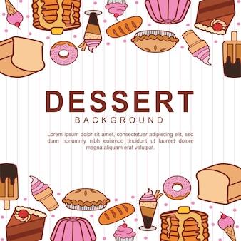 Fond de désert sucré dessiné à la main