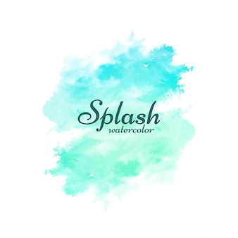 Fond de design décoratif splash aquarelle doux