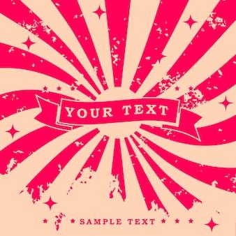 Fond de design rétro vintage avec effet de texture de grain de motif de torsion et échantillon de texte
