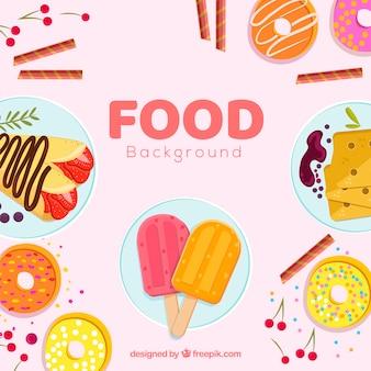 Fond avec des desserts