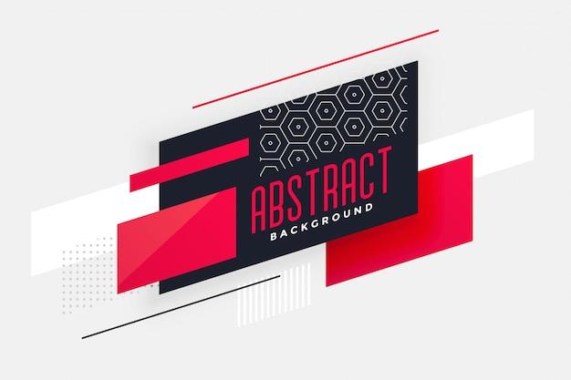Fond de dessin abstrait géométrique élégant