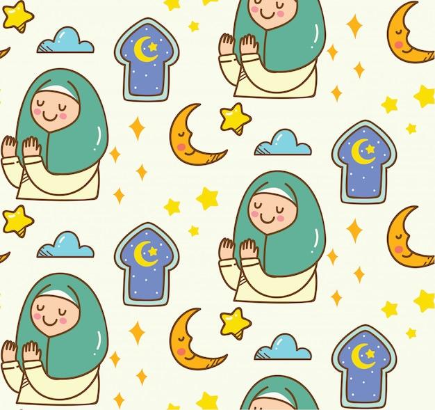 Fond de dessin animé islamique