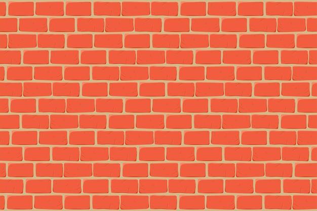 Fond de dessin animé de mur de brique.