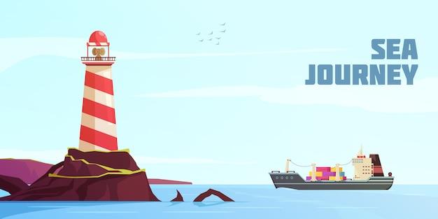 Fond de dessin animé nautique