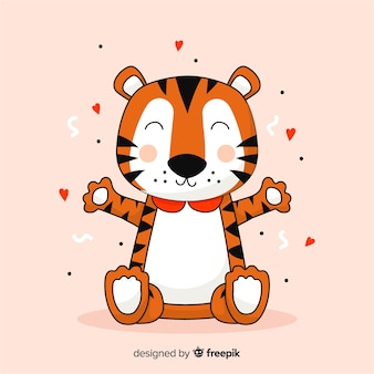 Fond de dessin animé de tigre