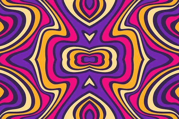 Fond dessiné main coloré groovy