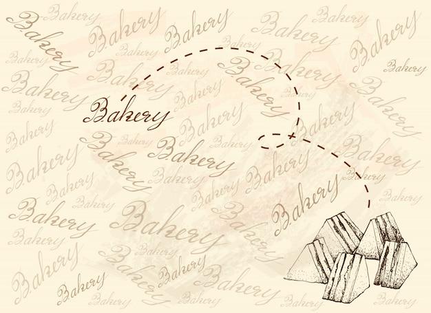 Fond dessiné à la main du club sandwich ou clubhouse sandwich
