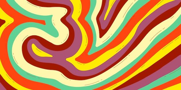 Fond dessiné à la main psychédélique coloré