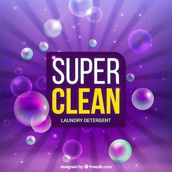 Fond de détergent pour lessive violet
