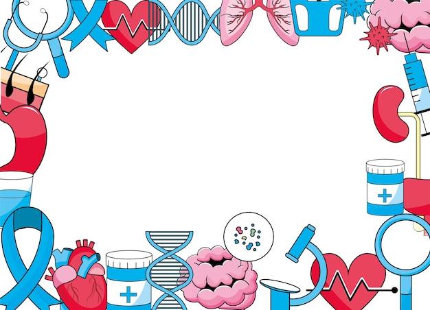 Fond de diagnostic de traitement médical de santé