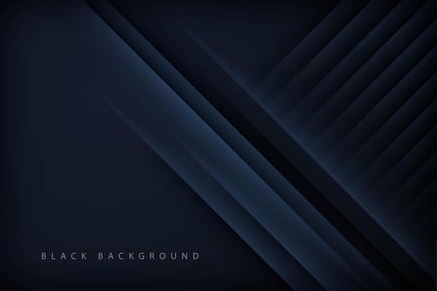 Fond diagonal de lumière abstraite noire