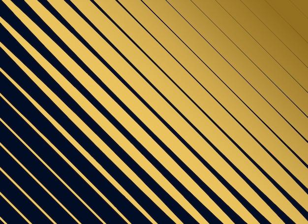 Fond diagonale de lignes dorées premium